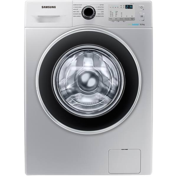 ماشین لباسشویی سفید سامسونگ مدل 1255 با ظرفیت 8 کیلو گرم  