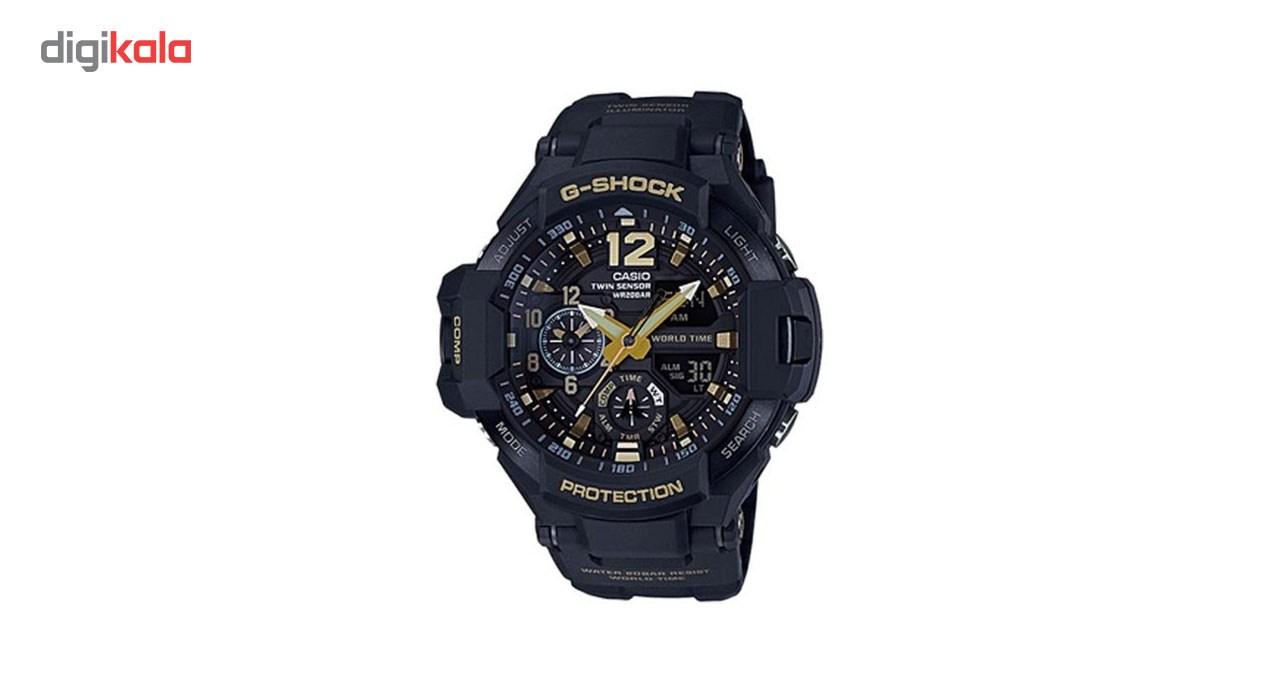 خرید ساعت مچی عقربه ای مردانه کاسیو جی شاک مدل GA-1100GB-1ADR | ساعت مچی