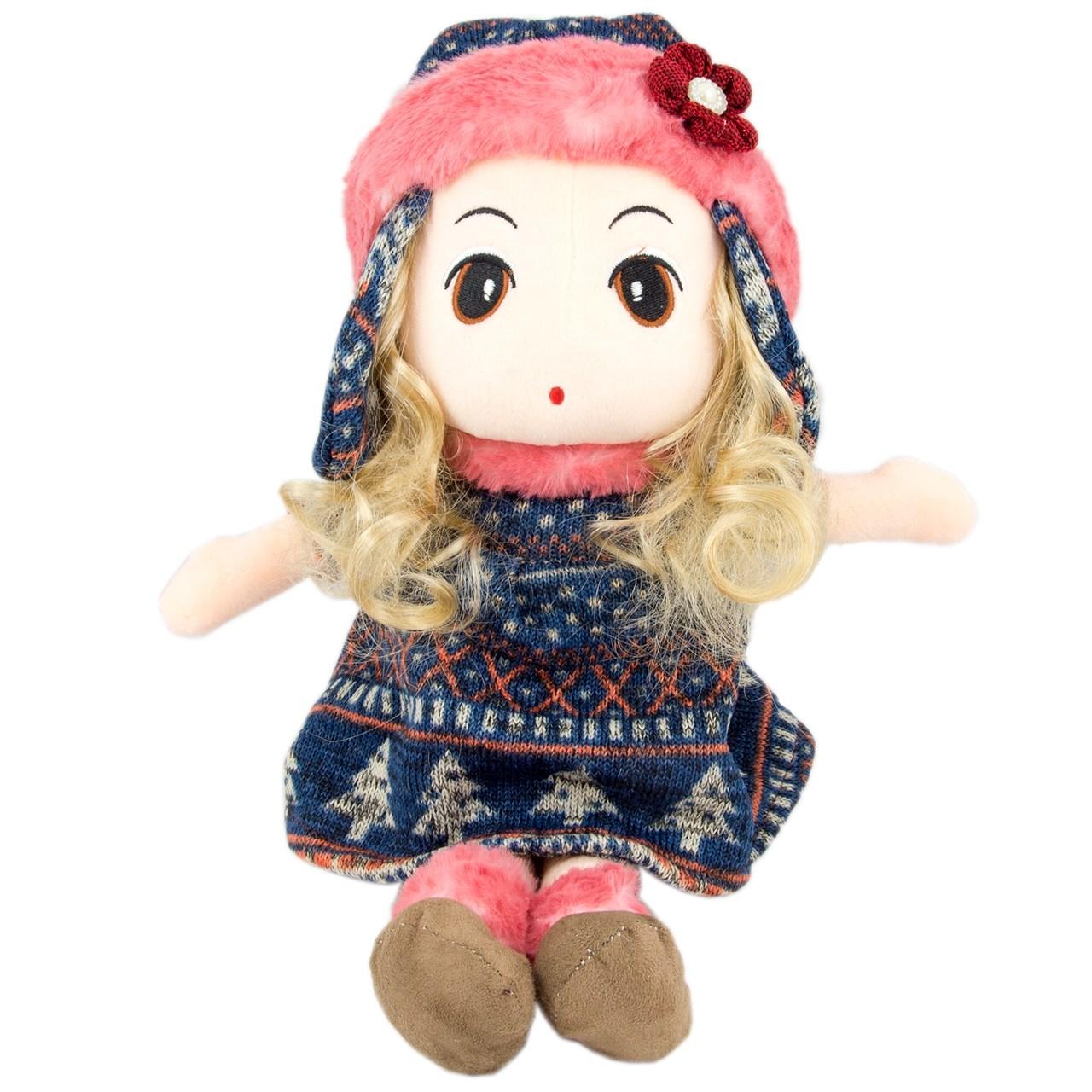 عروسک دختر کلاه روسی بهار گالری مدل Dress Navy Blue