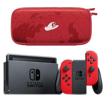 مجموعه کنسول بازی نینتندو مدل Switch Neon Blue and Neon Red Joy-Con | Nintendo Switch With Neon Blue and Neon Red Joy Con Bundle Game Console