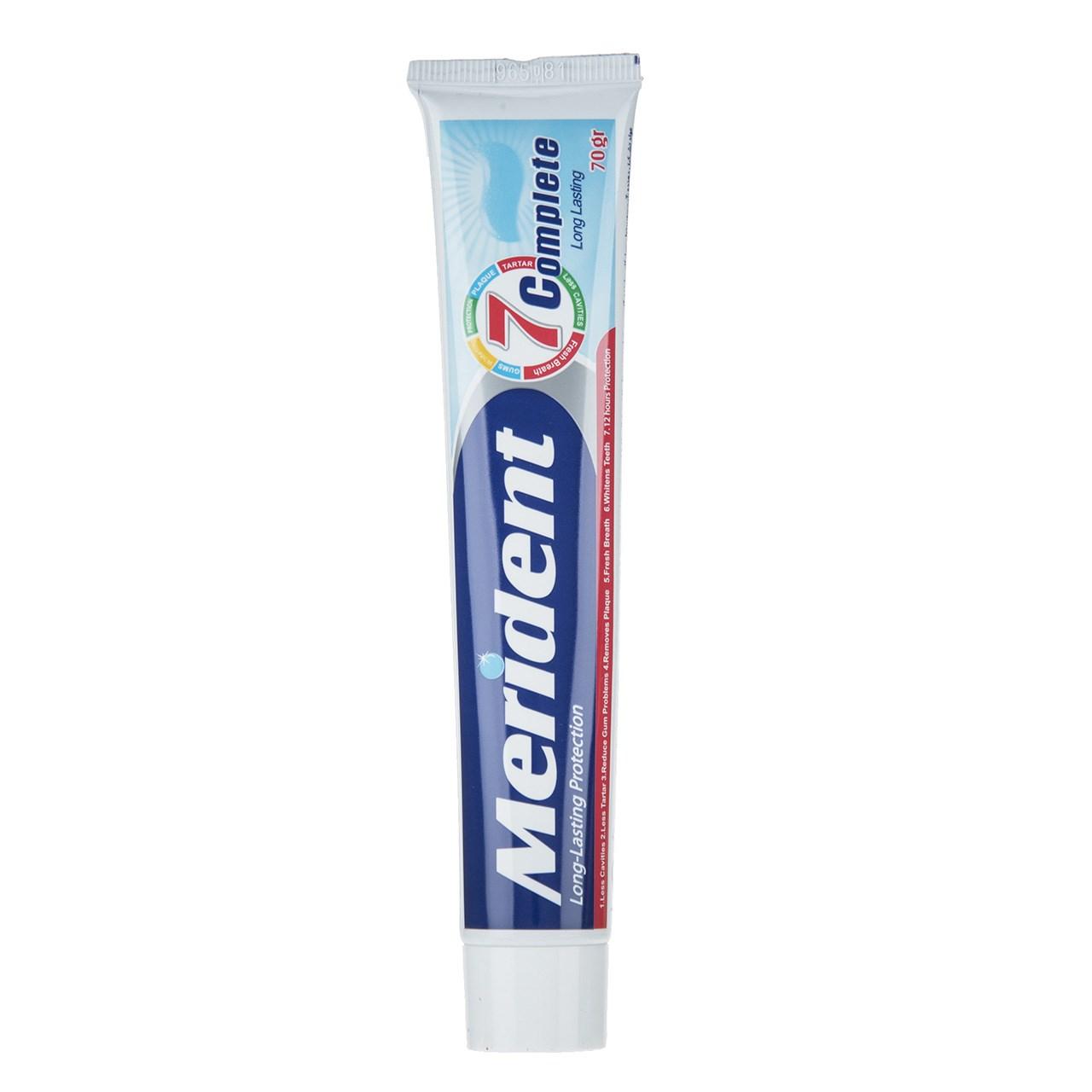 خمیر دندان سفید کننده مریدنت مدل 7 Complete مقدار 70 گرم
