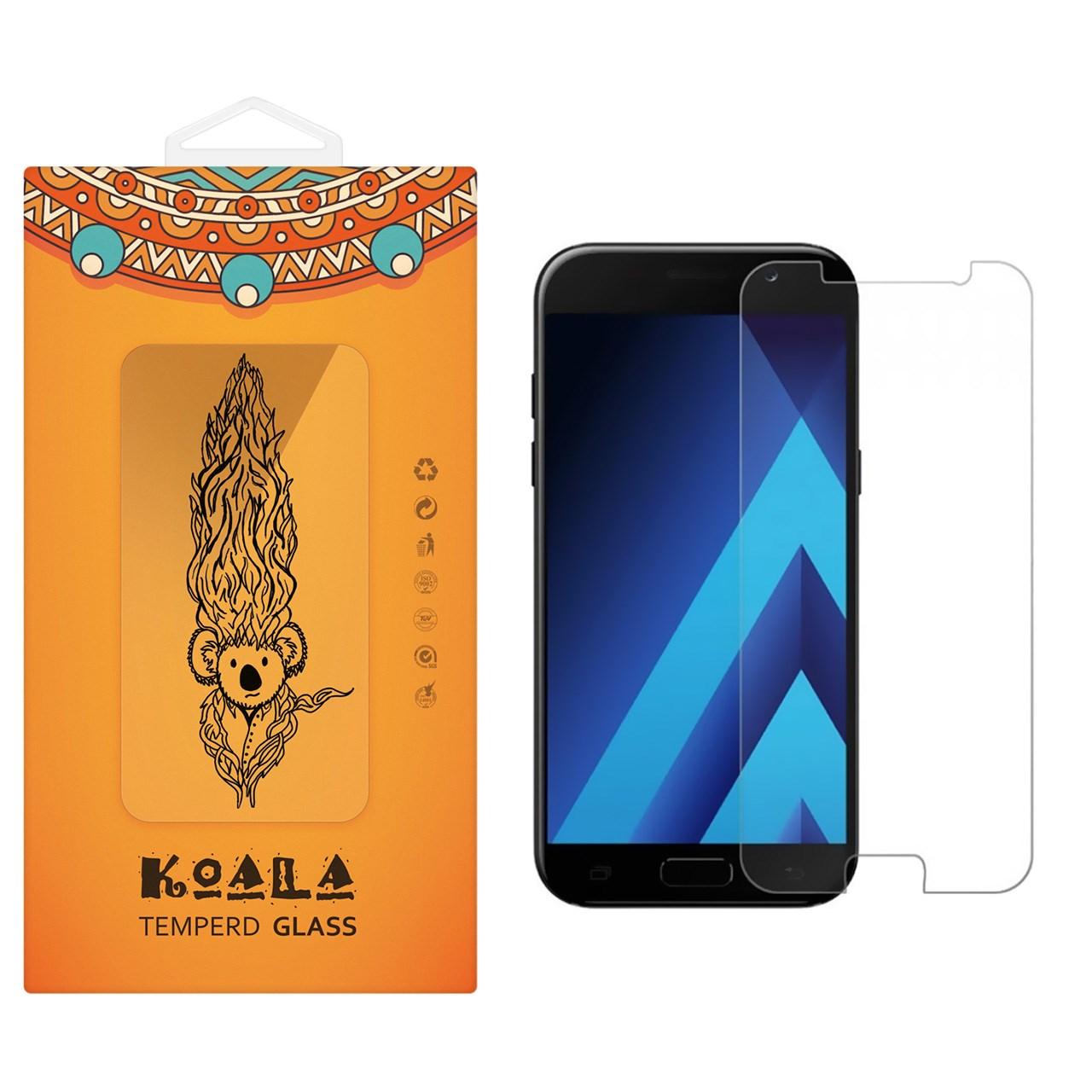 محافظ صفحه نمایش شیشه ای کوالا مدل Tempered مناسب برای گوشی موبایل سامسونگ Galaxy A7 2017