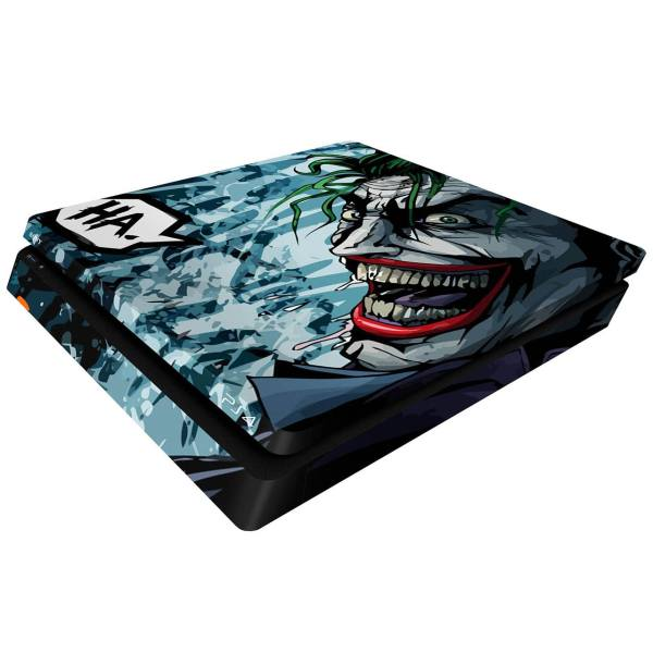 برچسب افقی پلی استیشن 4 اسلیم ونسونی طرح Comic Joker