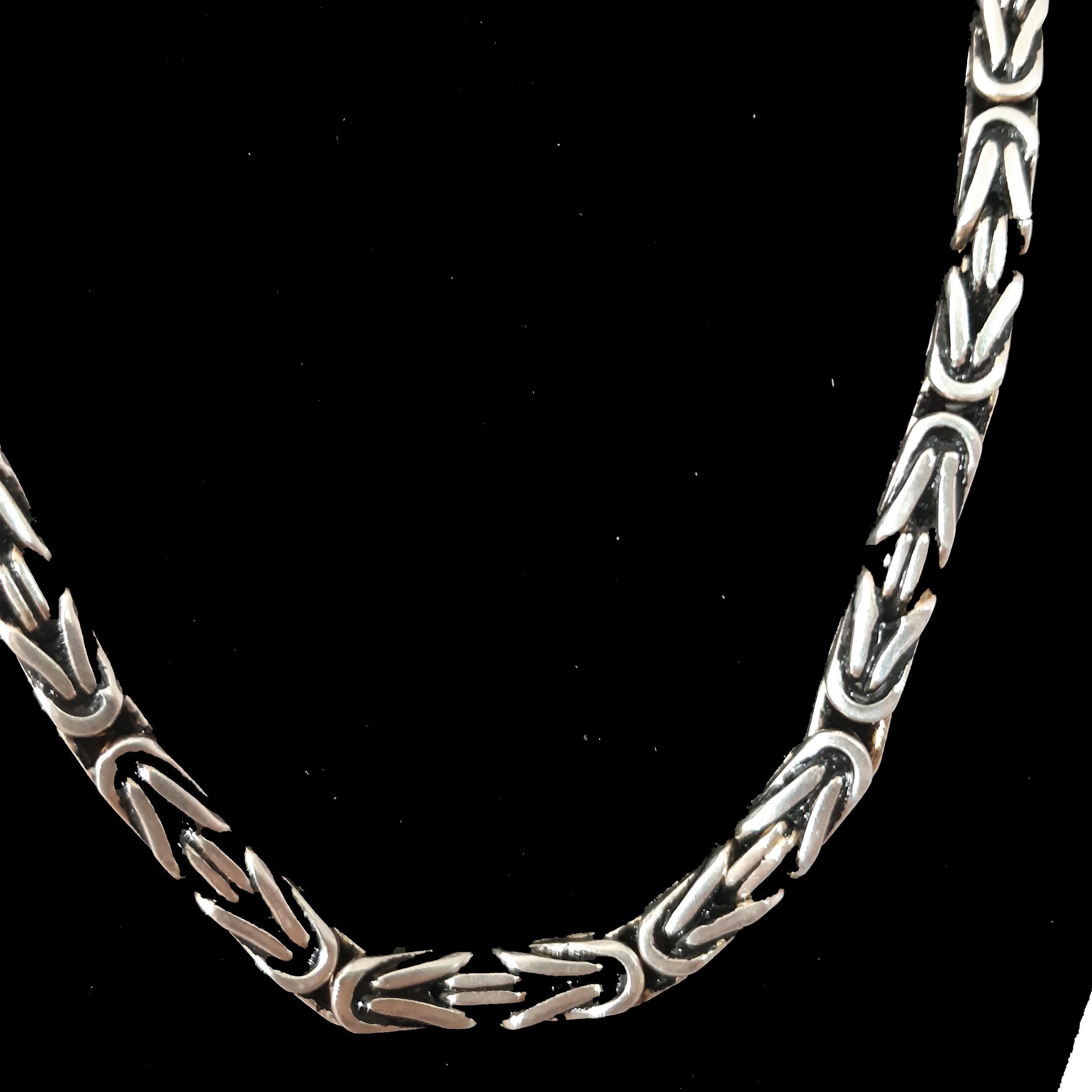 زنجیر نقره مردانه کد mari75