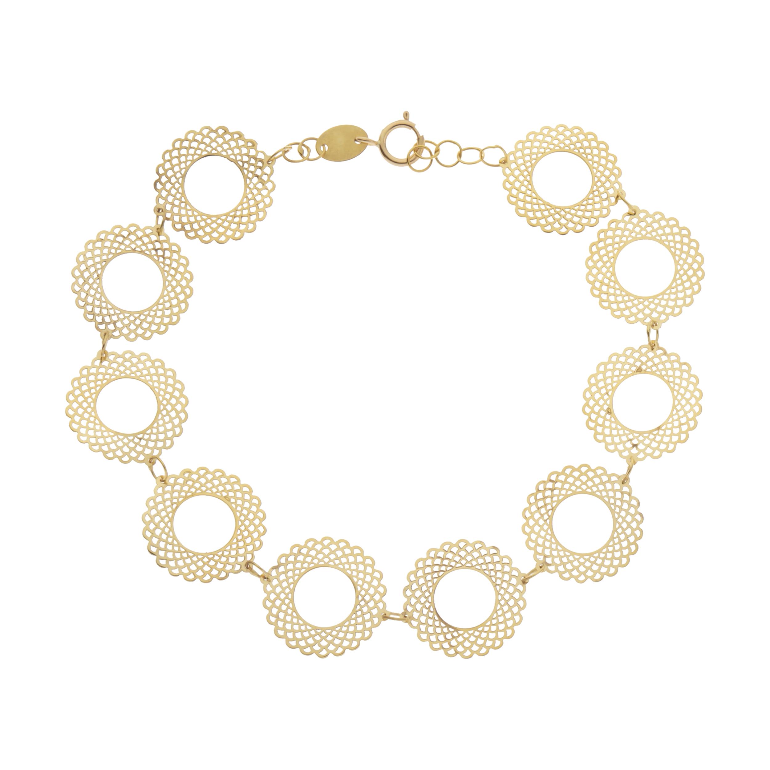 دستبند طلا 18 عیار زنانه کانیار گالری مدل DG2