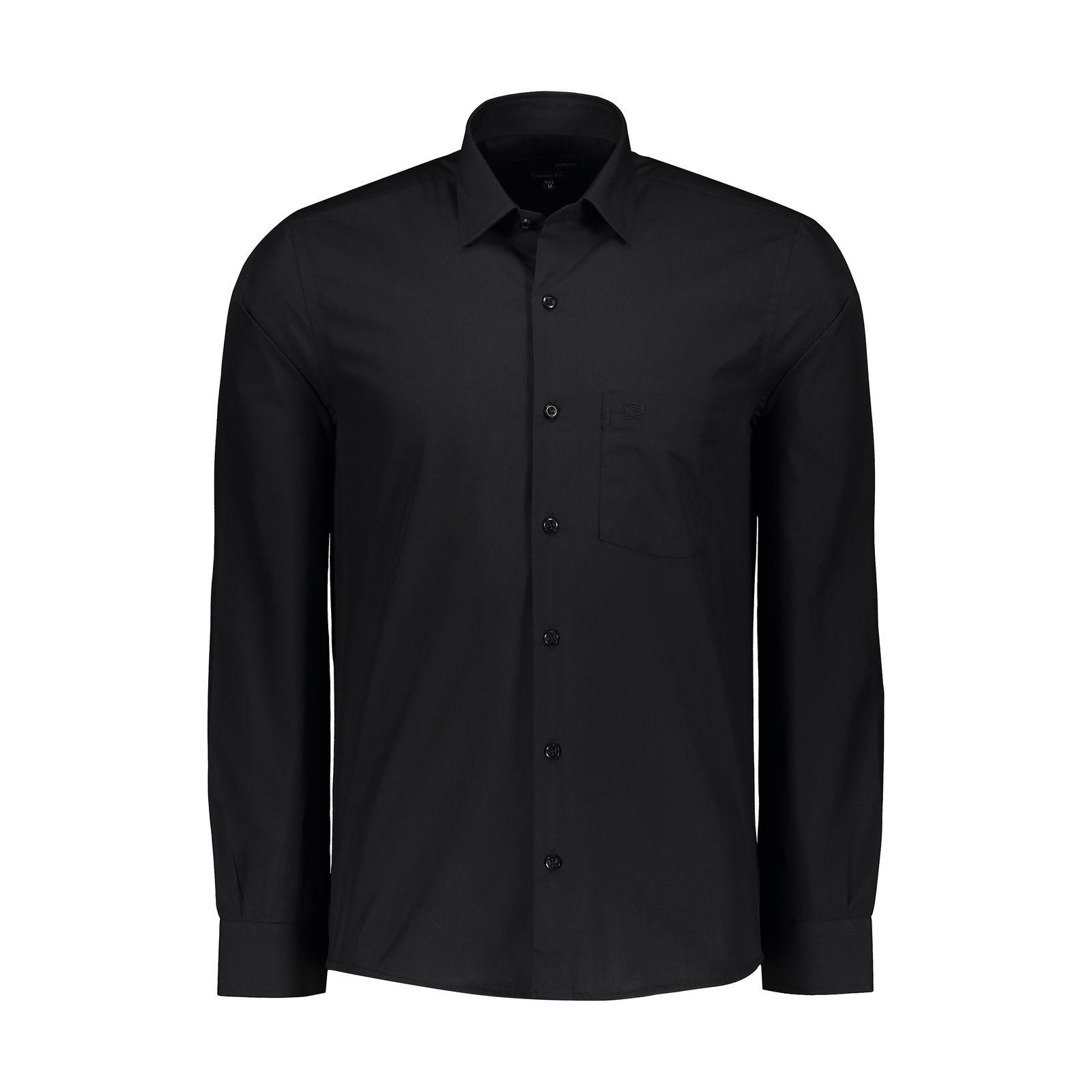 پیراهن مردانه پاتن جامه کد 98MC8528 رنگ مشکی  -  - 2