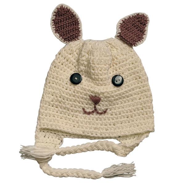 کلاه بافتنی بچگانه طرح خرگوش