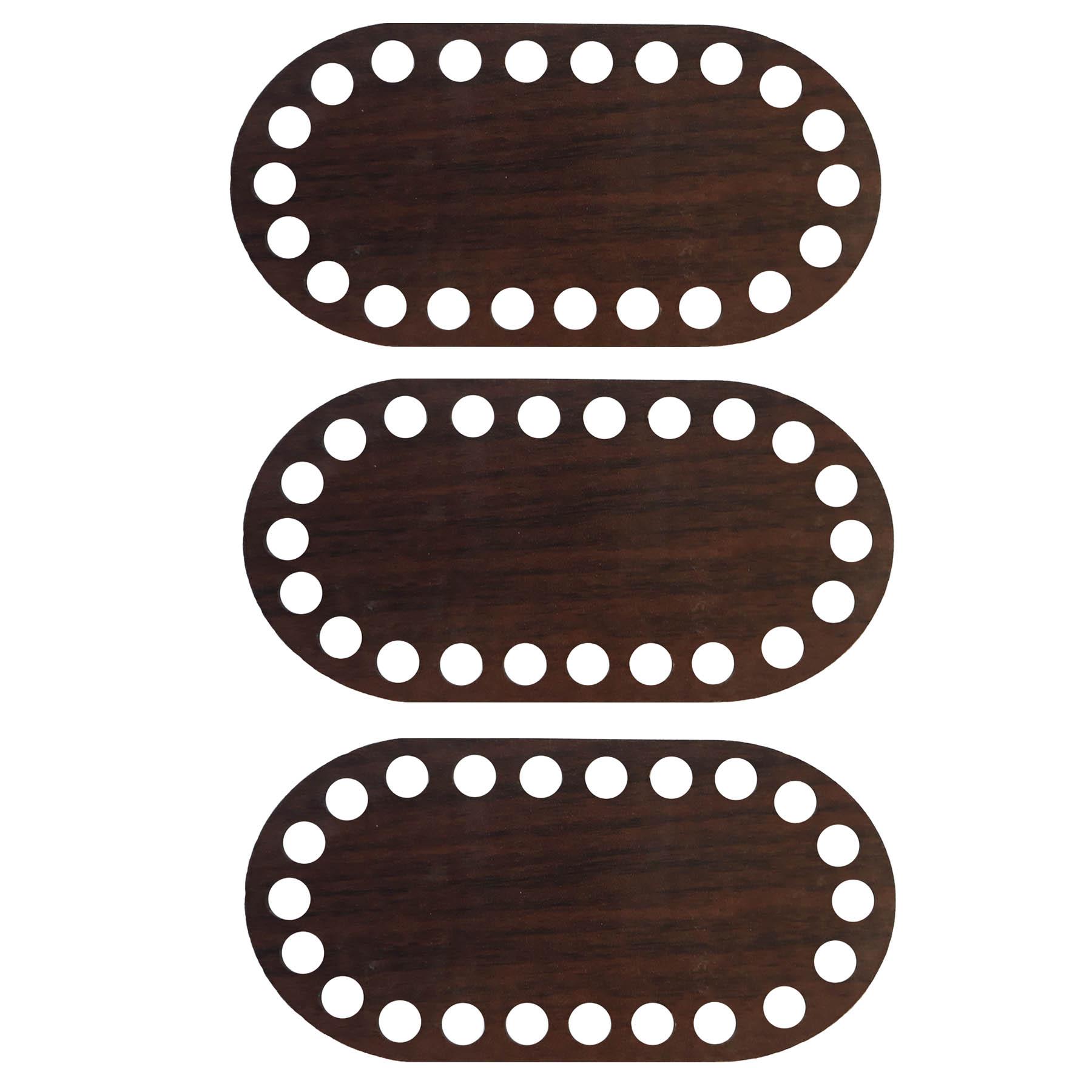 کفی تریکو بافی مدل بیضی کد BE3 بسته 3 عددی