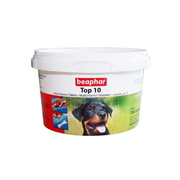 قرص مولتی ویتامین سگ بیفار مدل top10 بسته 180 عددی