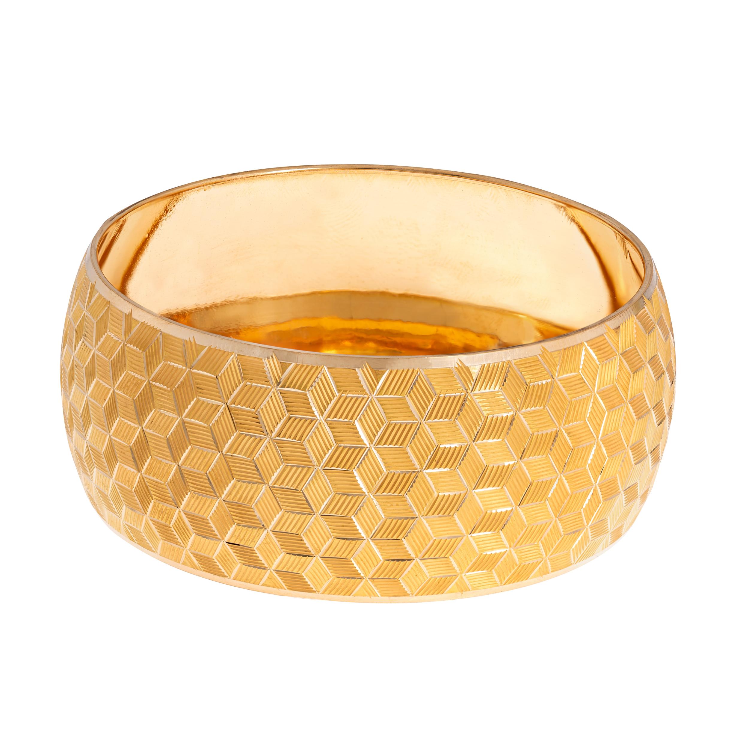 النگو طلا 18 عیار زنانه گالری یار طلا کد AL27-G-4