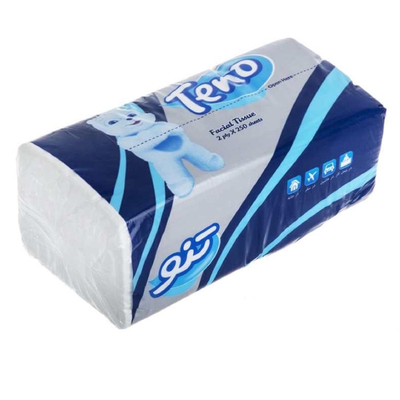 دستمال کاغذی 250 برگ تنو مدل 008 بسته 8 عددی