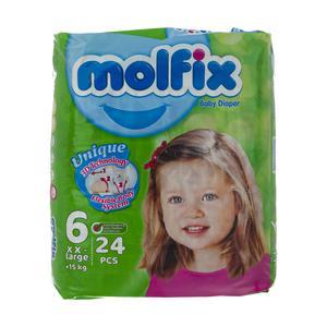 پوشک کودک مولفیکس سایز 6 بسته 24 عددی