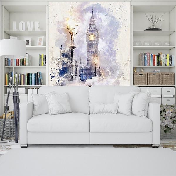 پوستر دیواری طرح برج ساعت لندن کد 19072020