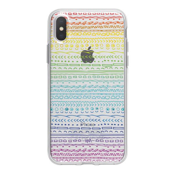 کاور  ژله ای وینا مدل Rainbow مناسب برای گوشی موبایل آیفون X / 10