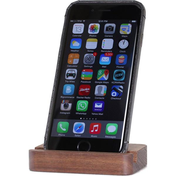 پایه نگهدارنده موبایل چوبی تست مدل Plain