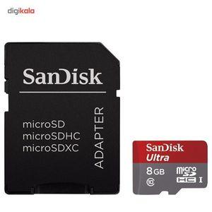 کارت حافظه microSDHC سن دیسک مدل Ultra کلاس 10 استاندارد UHS-I U1 سرعت 48MBps 320X به همراه آداپتو