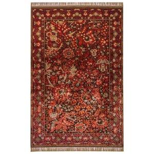 فرش ماشینی عرش طرح بهراد زمینه قرمز