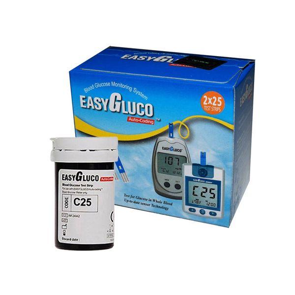 نوار تست قند خون  اینفوپیا مدلEasyGluco - بسته 50 عددی | Infopia EasyGluco Blood Glucose Test Strips - Pack Of 50