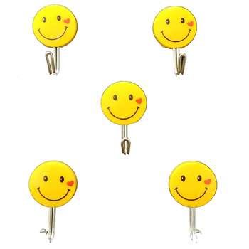 آویز حوله پرنیان هفت رنگ مدل Smile بسته 5 عددی