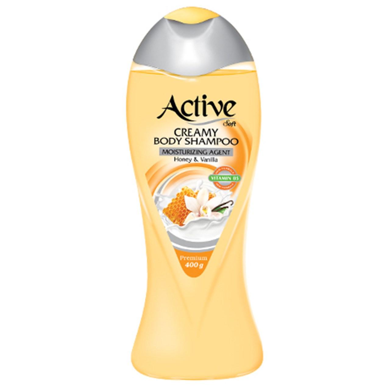 شامپو بدن کرمی اکتیو مدل Vanilla And Honey مقدار 400 گرم