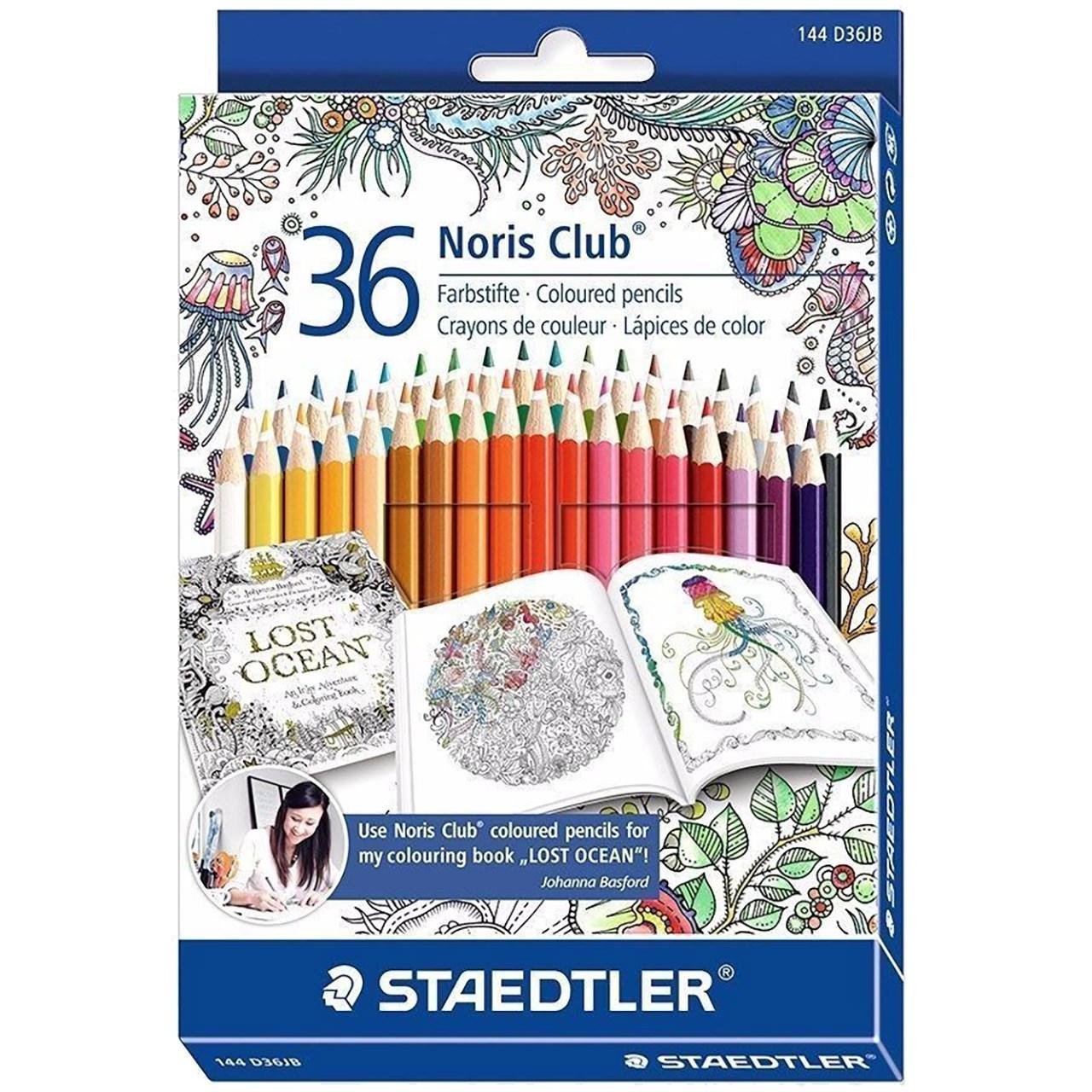 مداد رنگی 36 رنگ استدلر مدل Noris Club 144 D36JB