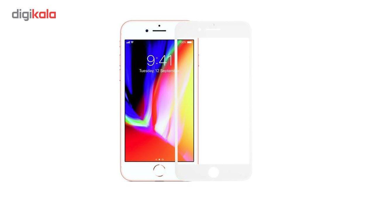 محافظ صفحه نمایش شیشه ای کوالا مدل Full Cover مناسب برای گوشی موبایل اپل آیفون 8 پلاس به همراه محافظ پشت Tempered main 1 4