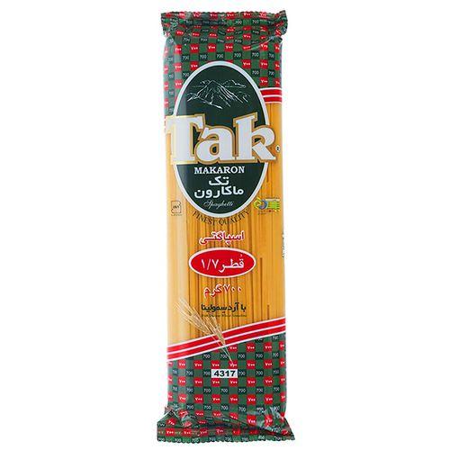 اسپاگتی قطر 1.7 تک ماکارون مقدار 700 گرمی