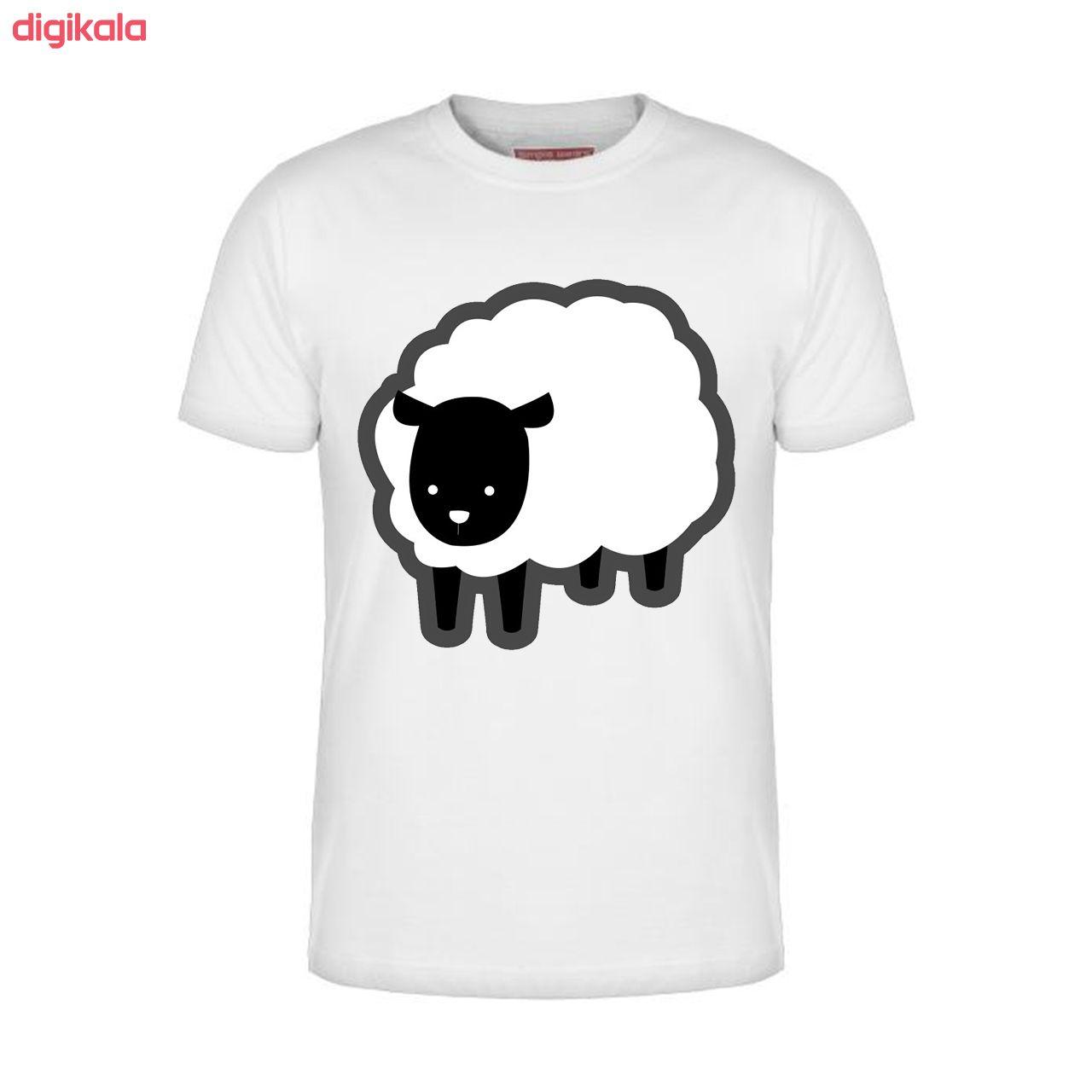 تیشرت آستین کوتاه مردانه طرح گوسفند مدل 778