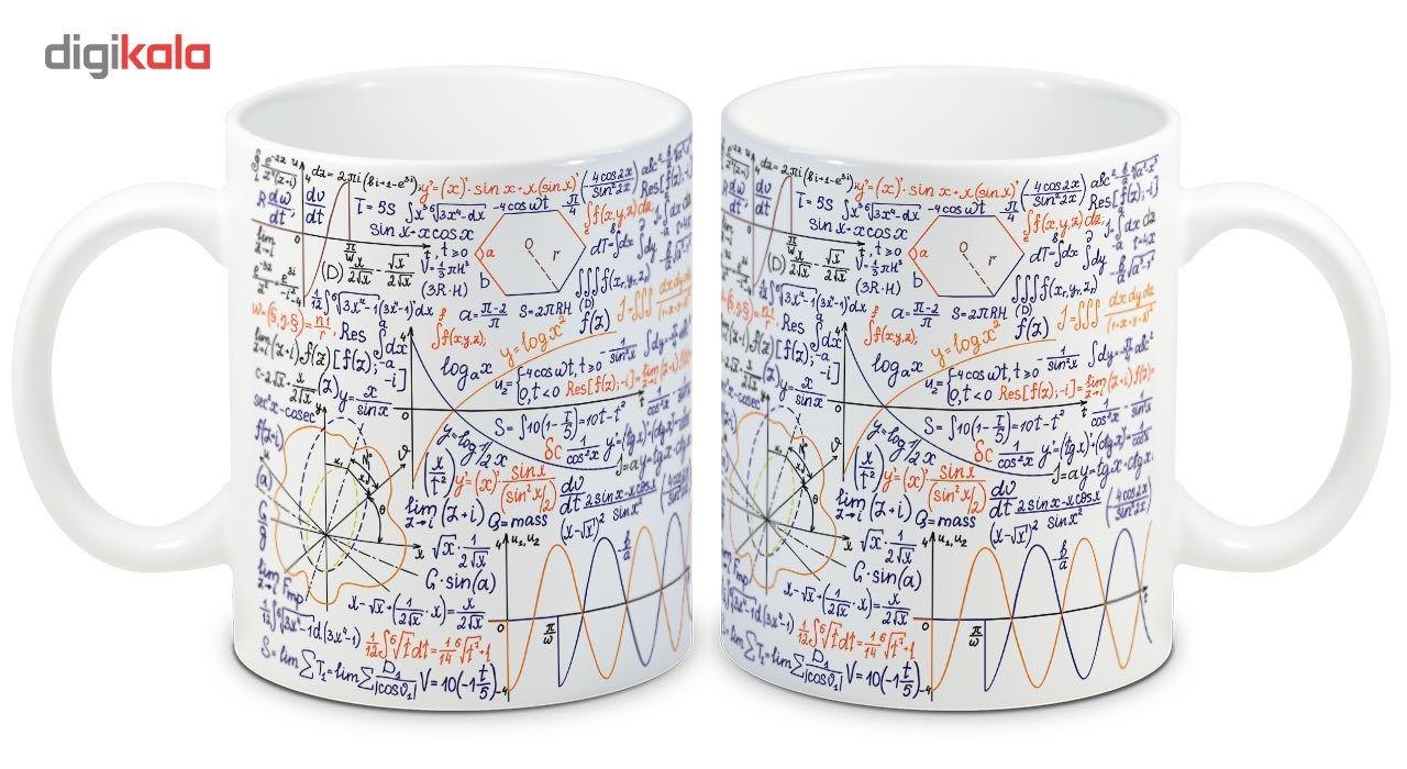 ماگ انارچاپ طرح ریاضی مدل MU224 main 1 2