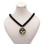 گردنبند طلا 24 عیار زنانه طرح نماد مهر کد 100071M