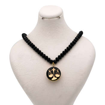 ست طلای 24 عیار زنانه طرح نماد مهر کد 100071M