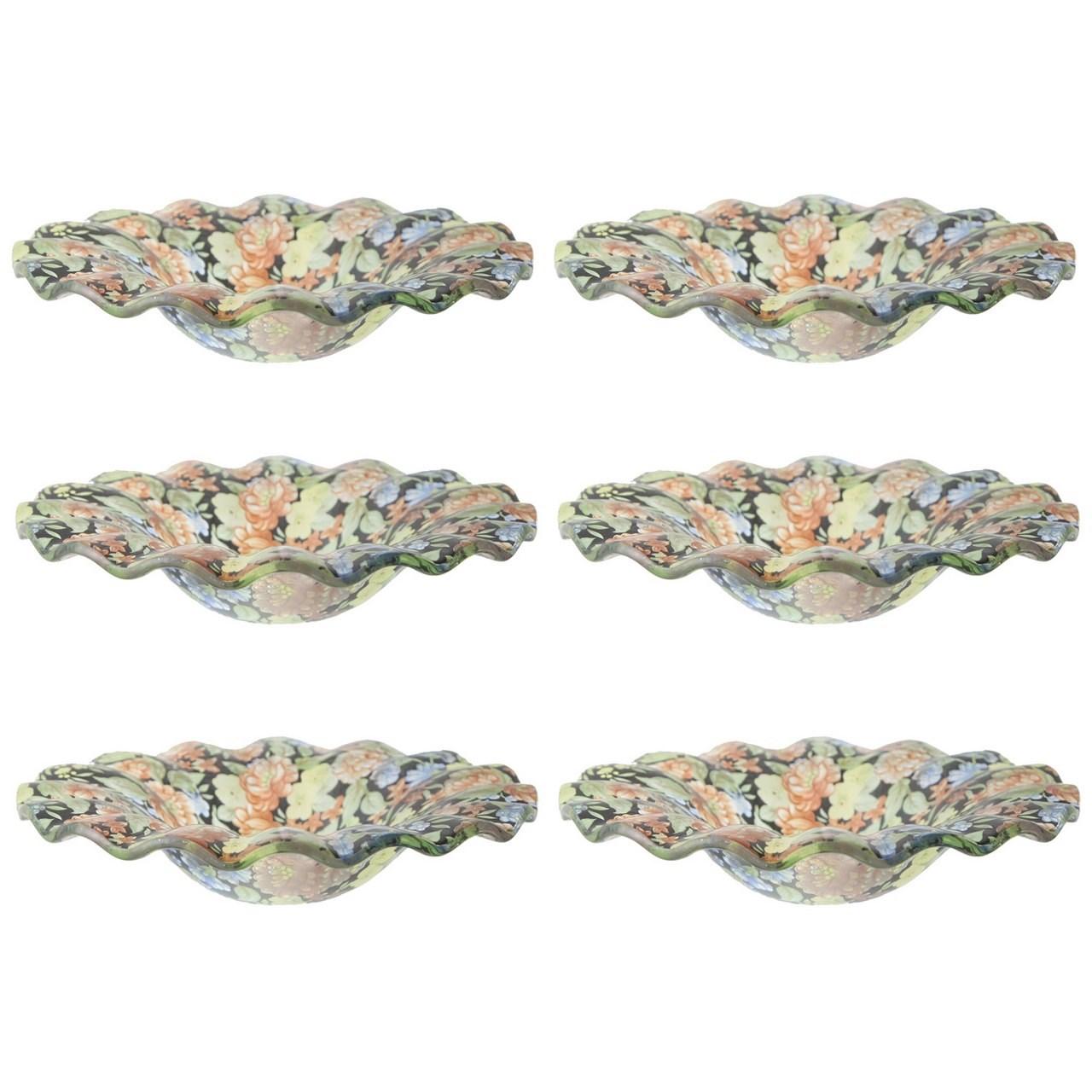 پیش دستی شیشه ای گالری سیلیس کد 180068مجموعه شش عددی