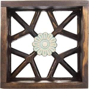 قفسه چوبی گالری اسعدی طرح تک گل کد66035