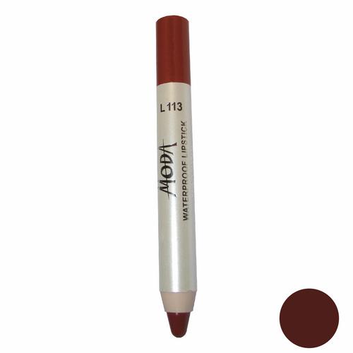 رژلب مدادی مودا مدل waterproof lipstick شماره L113