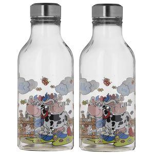 بطری زیبا مدل Cow بسته 2 عددی