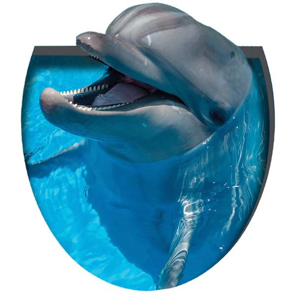 استیکر سه بعدی سرویس بهداشتی ژیوار طرح دلفین