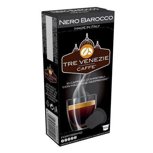 کپسول قهوه تِرِونیز مدل Nero Barocco بسته 10 عددی