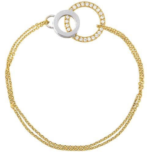 دستبند طلا 18 عیار ماهک مدل MB0168