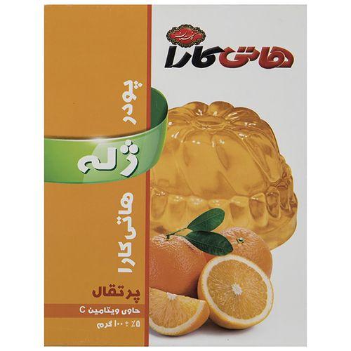 پودر ژله پرتقال هاتی کارا مقدار 100 گرم