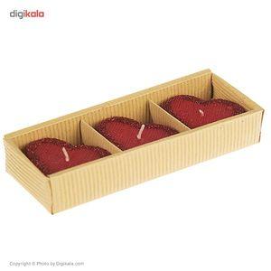شمع مدل Heart 2958 - بسته 3 عددی