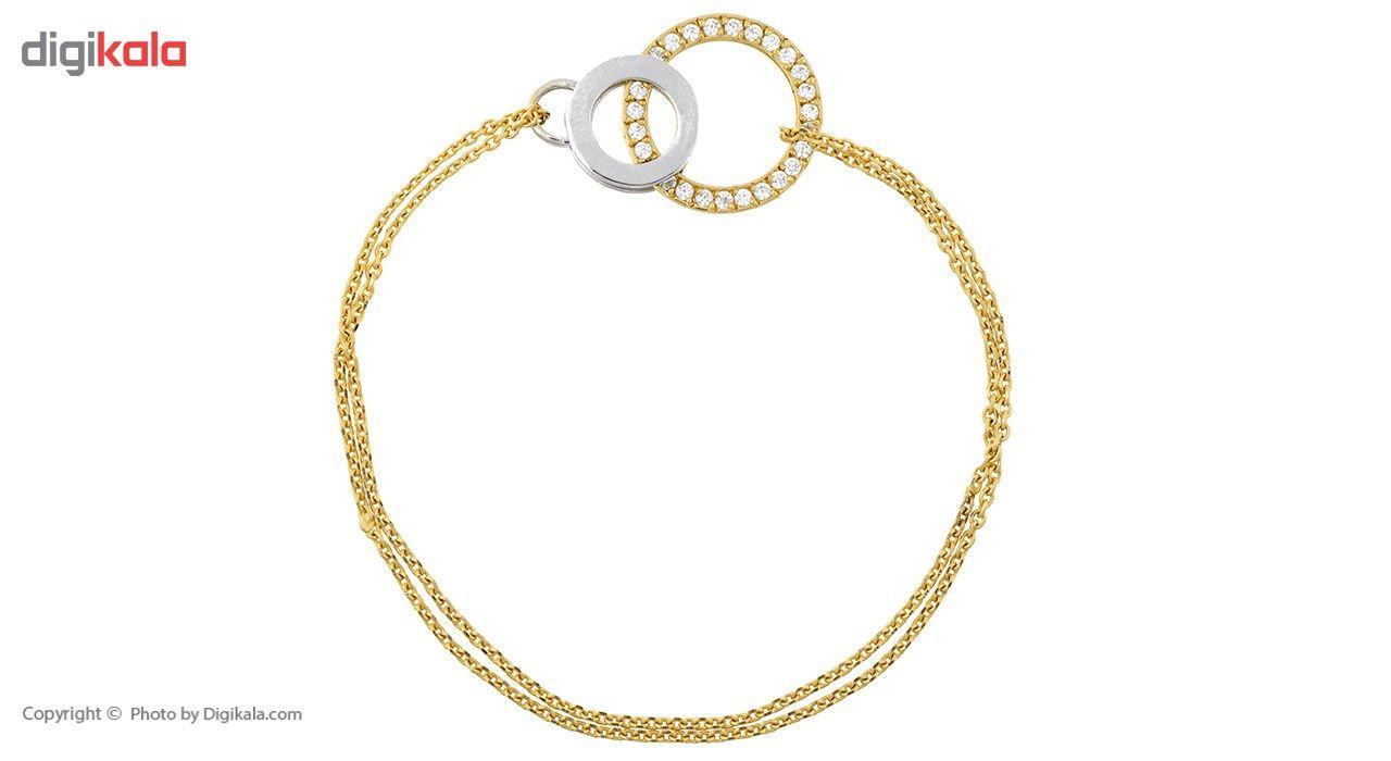 دستبند طلا 18 عیار ماهک مدل MB0168 - مایا ماهک -  - 2