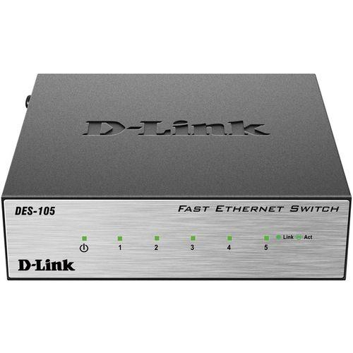 سوییچ 5 پورت دسکتاپ دی-لینک مدل DES-105