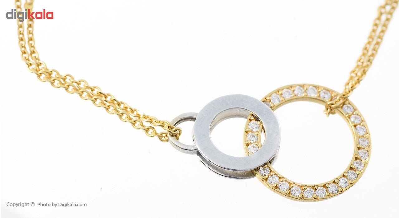 دستبند طلا 18 عیار ماهک مدل MB0168 - مایا ماهک -  - 3