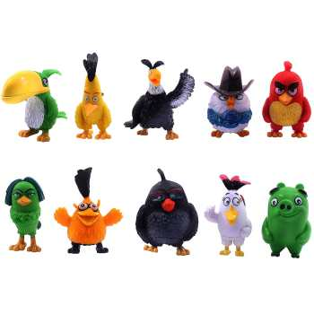 مجموعه 10 عددی فیگور واته تویز مدل Angry Birds