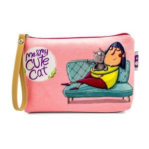 کیف لوازم آرایش هیدورا طرح My Cute Cat