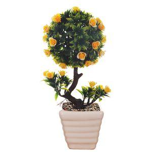گلدان به همراه گل مصنوعی وسنا مدل بنسای کد 613