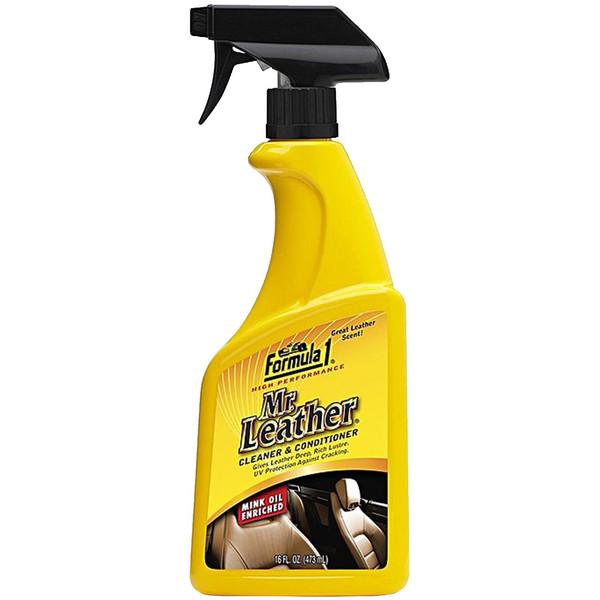 اسپری تمیز کننده چرم خودرو فرمول وان مدل Mr.Leather 686132 - حجم 473