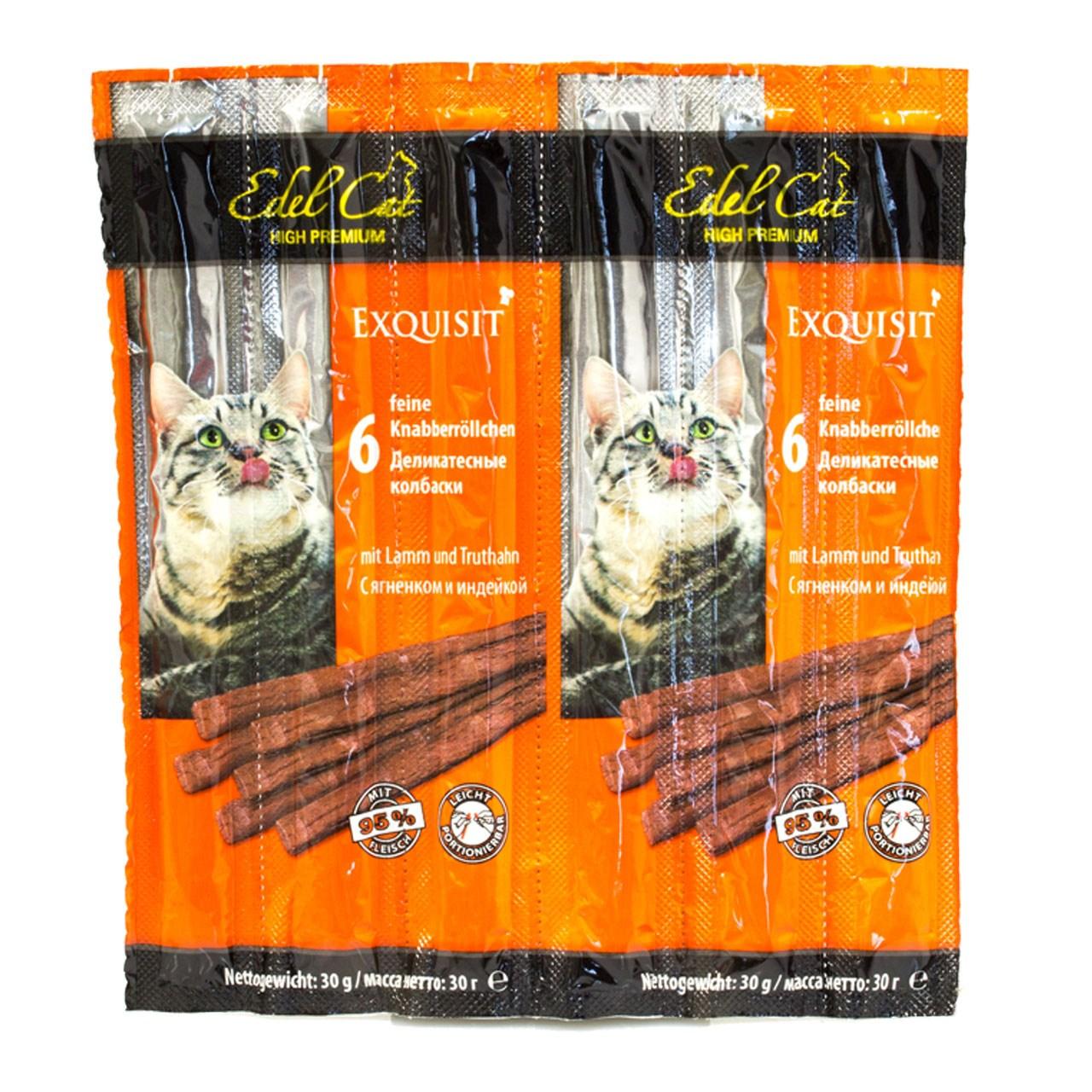 استیک گربه ایدل کت مدل گوشت بره و بوقلمون وزن 24 گرم بسته شش عددی
