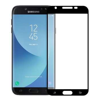 محافظ صفحه نمایش شیشه ای تمپرد مدل Full Cover مناسب برای گوشی موبایل سامسونگ Galaxy J7 Pro
