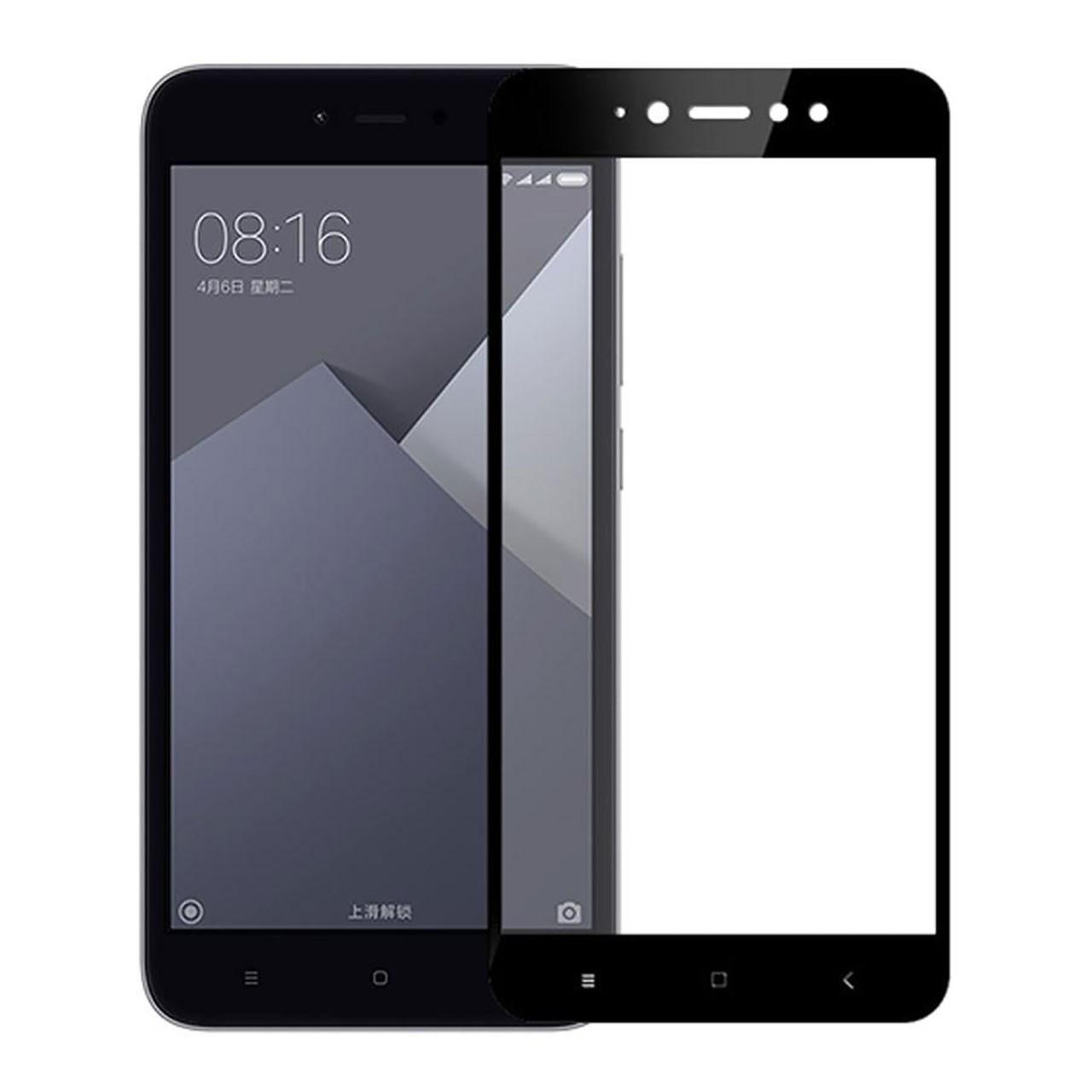 محافظ صفحه نمایش شیشه ای تمام چسب مدل 5D مناسب برای گوشی شیائومی Redmi Note 5A Prime